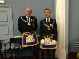 Deputy Provincial Grand Master – Neal Spencer and the Assistant Provincial Grand Master – Alan Knowles.